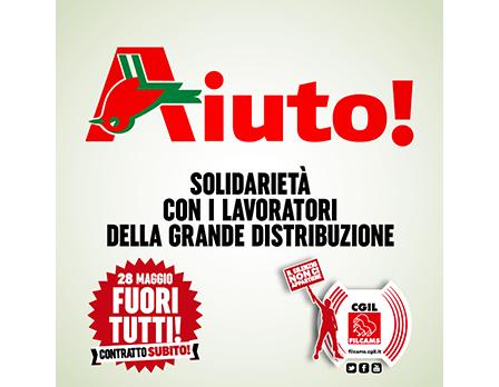 Filcams campagna sciopero 28 maggio - Redesign Agenzia Comunicazione Bologna