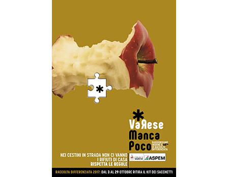 varese manca poco - aspem varese campagna riciclo 2016 - Bologna marzo 2017 - Redesign Agenzia Comunicazione Bologna