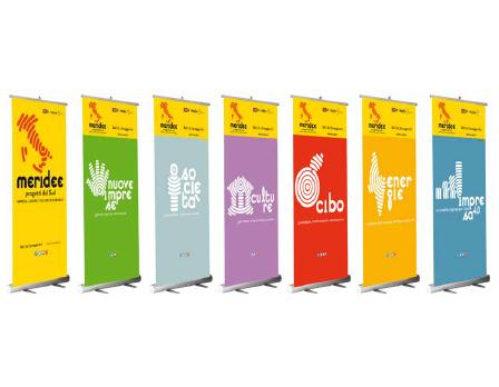 Roll up - Meridee sito - Progetti dal sud - Redesign Comunicazione Bologna