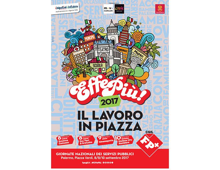 FP CGIL - Festa Effepiù 2017 Palermo - Redesign agenzia di comunicazione Bologna