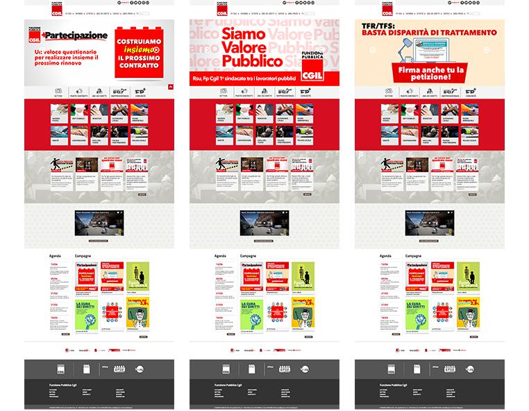 FP CGIL - Sito web - Redesign agenzia di comunicazione Bologna