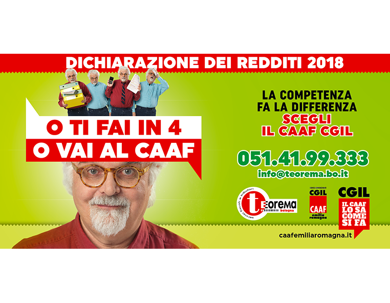 Caaf Cgil dichiarazione dei redditi 2018 - Redesign agenzia di comunicazione Bologna