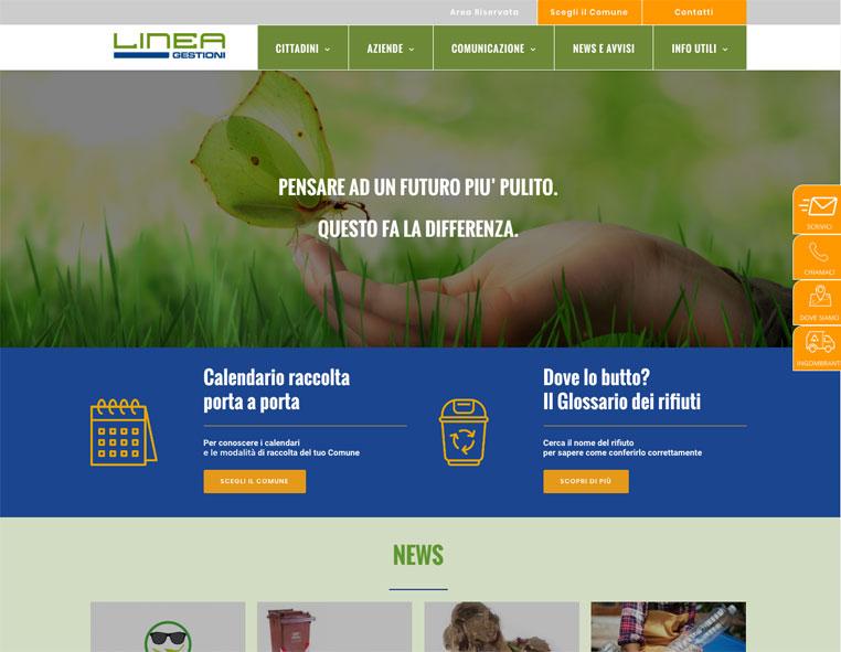 Linea Gestioni Redesign Agenzia Comunicazione Bologna
