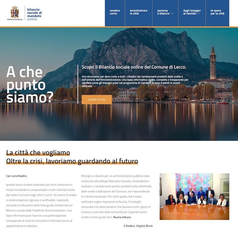 Bilancio Sociale Lecco realizzato da Redesign Agenzia Comunicazione