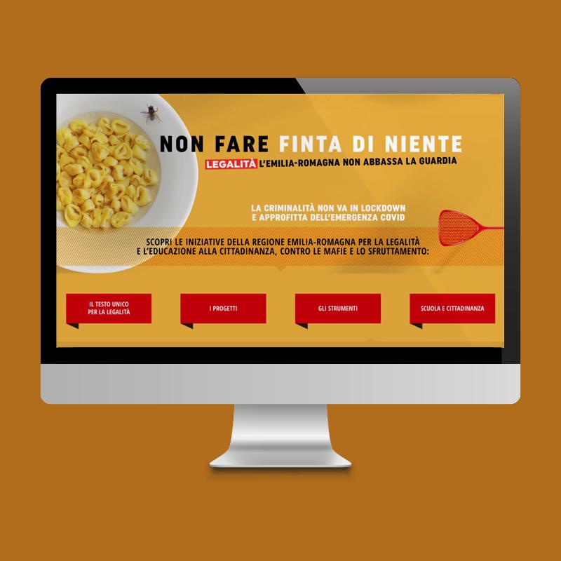 Non fare finta di niente Redesign Agenzia di Comunicazione Bologna