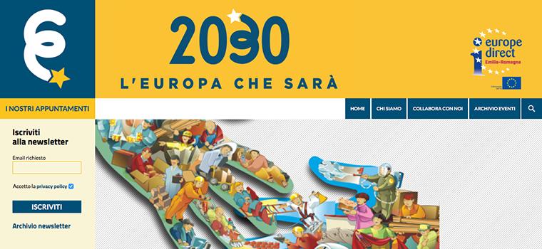 sito web e newsletter Europa 2030 Redesign Agenzia Comunicazione Bologna