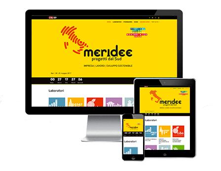 Meridee sito - Progetti dal sud - Redesign Comunicazione Bologna