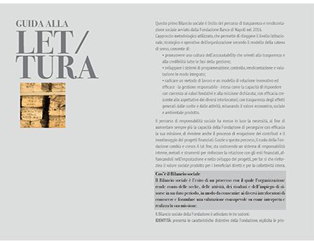 Bilancio sociale banco di Napoli - Redesign Comunicazione Bologna