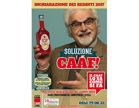 Soluzione CAAF - Dichiarazione dei redditi 2017 - Il CAAF lo sa come si fa - Redesign Comunicazione Bologna
