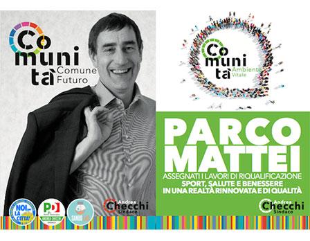 Parco Mattei - Andrea Checchi - Sindaco di Sandonato Milanese - Redesign agenzia di comunicazione Bologna