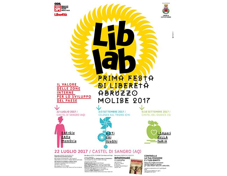 Prima festa di Liberetà Abruzzo Molise 2017 - Redesign agenzia di comunicazione Bologna