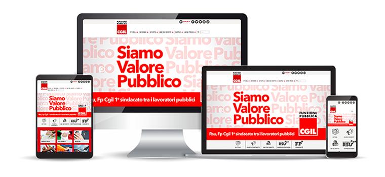 Sito web - FP CGIL - Elezioni RSU 2018 - - Redesign agenzia di comunicazione Bologna