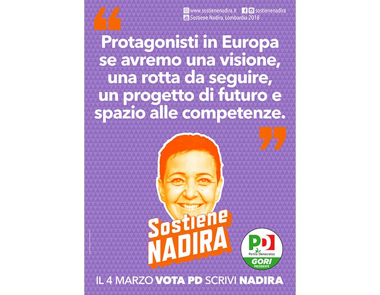 Sostiene Nadira - Redesign Comunicazione Bologna