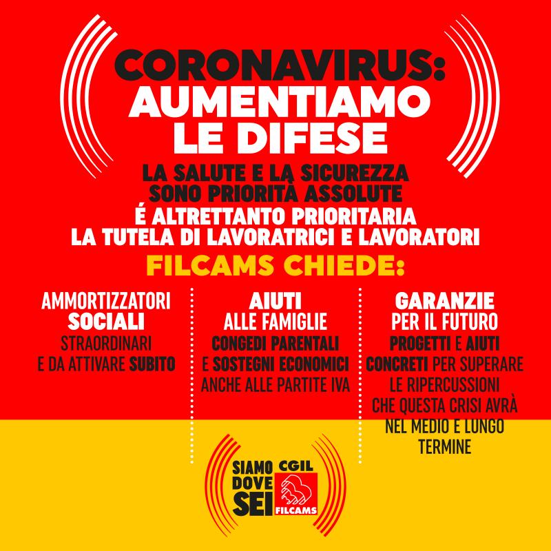 Coronavirus Campagna Filcams di Redesign Agenzia Comunicazione Bologna